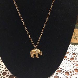 J. Crew Elephant Necklace